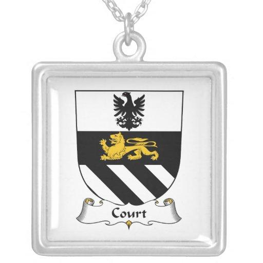 Escudo de la familia de la corte grimpola personalizada