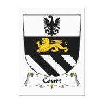 Escudo de la familia de la corte impresion de lienzo
