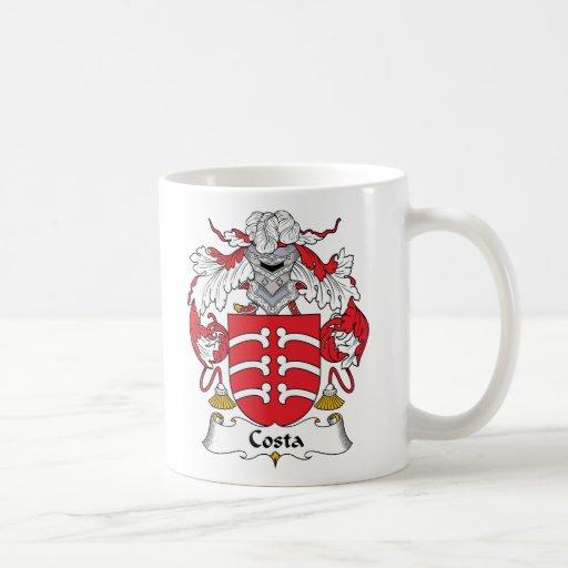 Escudo de la familia de la costa tazas de café