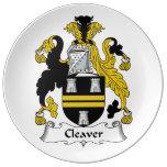 Escudo de la familia de la cuchilla platos de cerámica