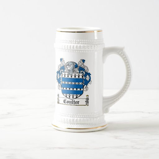Escudo de la familia de la cuchilla taza de café