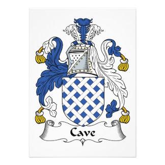 Escudo de la familia de la cueva comunicado