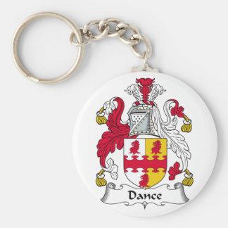 Escudo de la familia de la danza llavero redondo tipo pin