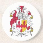 Escudo de la familia de la danza posavasos manualidades