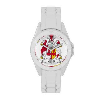Escudo de la familia de la danza reloj