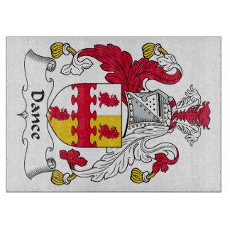 Escudo de la familia de la danza tabla de cortar