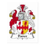 Escudo de la familia de la danza tarjetas postales