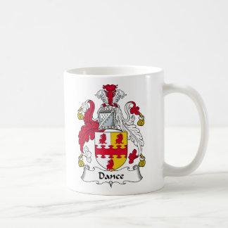 Escudo de la familia de la danza tazas de café