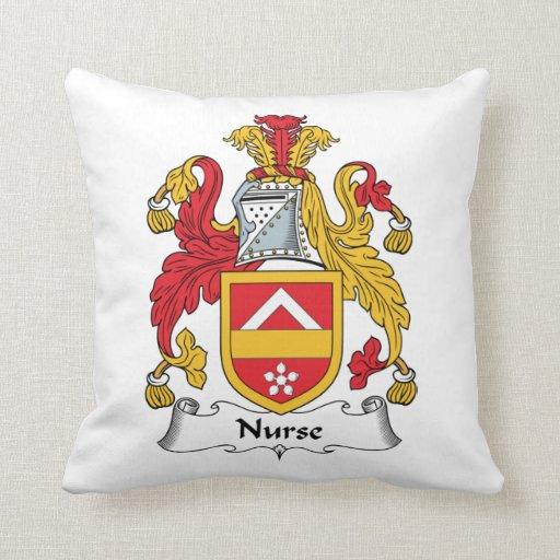 Escudo de la familia de la enfermera almohadas