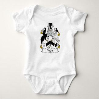 Escudo de la familia de la espera body para bebé