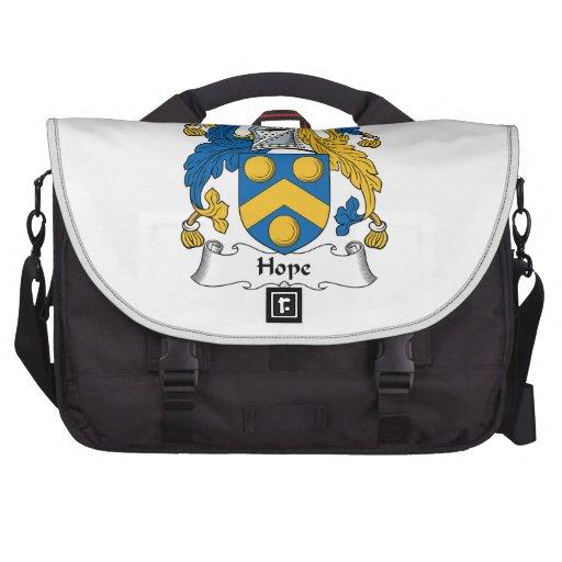 Escudo de la familia de la esperanza bolsas de portátil