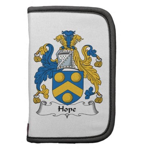 Escudo de la familia de la esperanza planificadores
