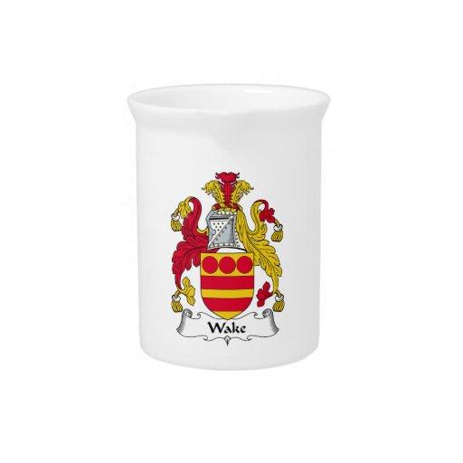 Escudo de la familia de la estela jarra de beber