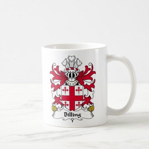 Escudo de la familia de la facturación tazas de café