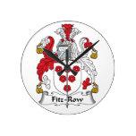 Escudo de la familia de la Fitz-Fila Reloj De Pared