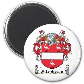 Escudo de la familia de la Fitz-Garza Iman Para Frigorífico