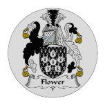 Escudo de la familia de la flor juego de fichas de póquer