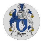 Escudo de la familia de la floración juego de fichas de póquer