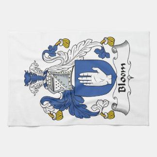 Escudo de la familia de la floración toalla de mano