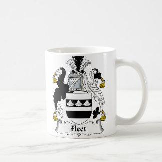 Escudo de la familia de la flota taza