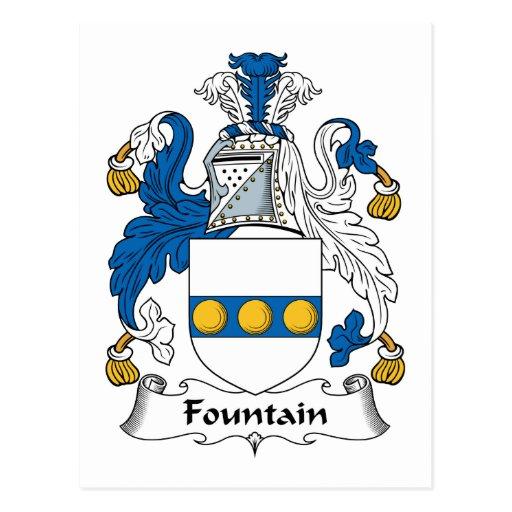 Escudo de la familia de la fuente postal