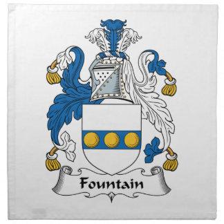 Escudo de la familia de la fuente servilletas imprimidas