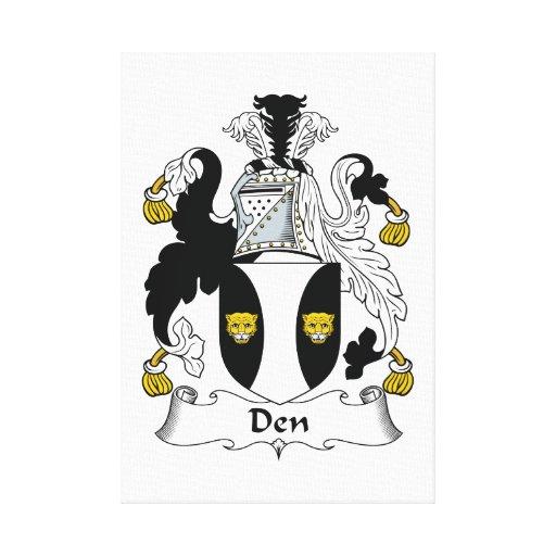 Escudo de la familia de la guarida lona envuelta para galerias