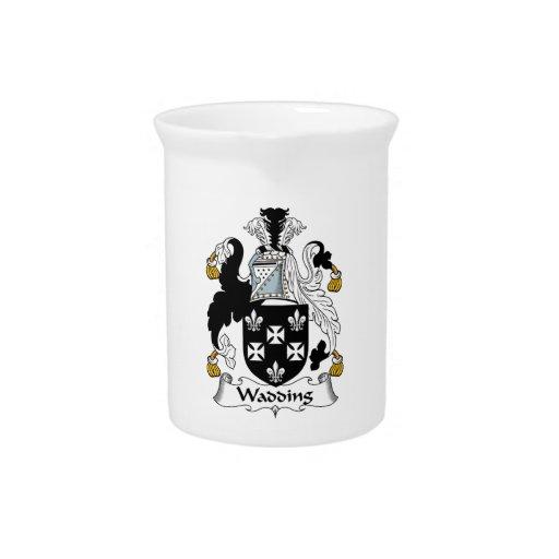Escudo de la familia de la guata jarra de beber
