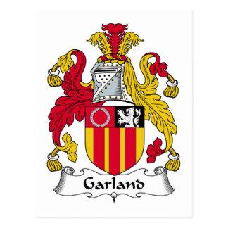 Escudo de la familia de la guirnalda postales
