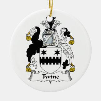 Escudo de la familia de la guita adorno redondo de cerámica