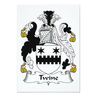 Escudo de la familia de la guita invitación 12,7 x 17,8 cm