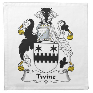 Escudo de la familia de la guita servilletas