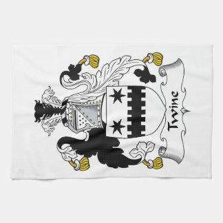Escudo de la familia de la guita toallas de mano