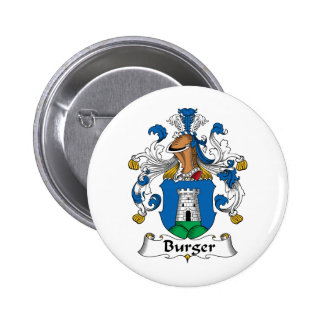Escudo de la familia de la hamburguesa pin redondo 5 cm