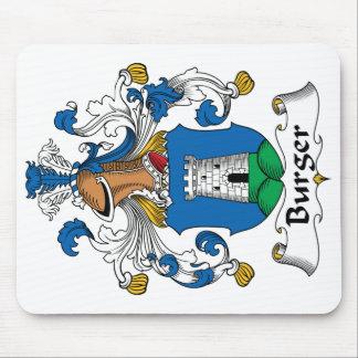 Escudo de la familia de la hamburguesa alfombrilla de ratón