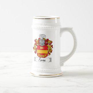 Escudo de la familia de la harina de cereales jarra de cerveza