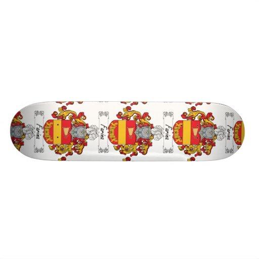 Escudo de la familia de la harina de cereales tabla de patinar
