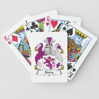 Escudo de la familia de la historia barajas de cartas