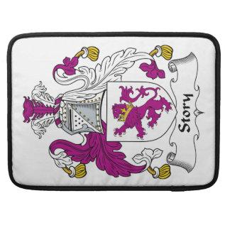 Escudo de la familia de la historia funda para macbook pro
