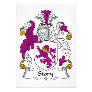 Escudo de la familia de la historia invitacion personal