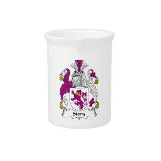 Escudo de la familia de la historia jarras de beber