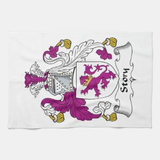 Escudo de la familia de la historia toallas de mano