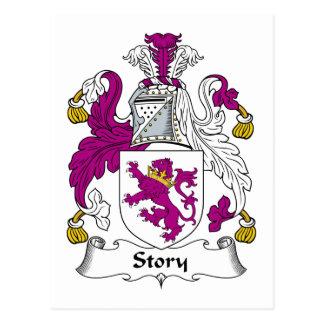 Escudo de la familia de la historia postales