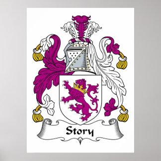 Escudo de la familia de la historia posters