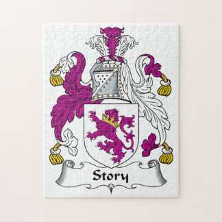 Escudo de la familia de la historia rompecabeza