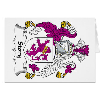 Escudo de la familia de la historia tarjeta