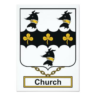Escudo de la familia de la iglesia invitación personalizada