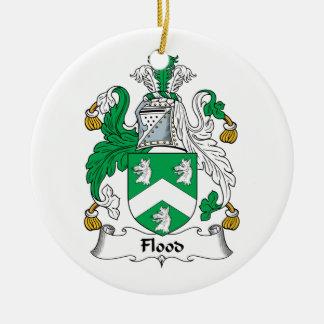 Escudo de la familia de la inundación ornamento para reyes magos
