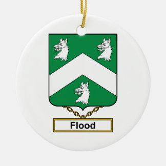Escudo de la familia de la inundación ornamento para arbol de navidad