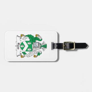 Escudo de la familia de la inundación etiquetas para maletas